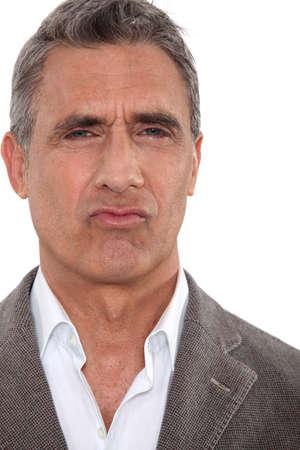 median age: Funny man Stock Photo