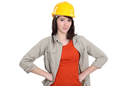 Confident young female builder Stock Photo - 15832813
