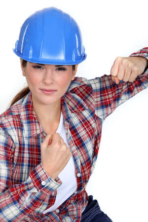 male dominated: Tradeswoman ready to fight