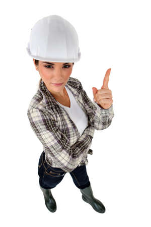 craftswoman: sexy craftswoman posing Stock Photo