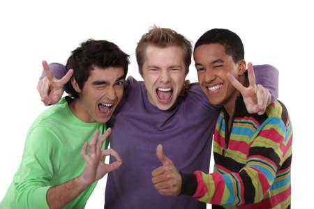 buddies: trio of cheerful buddies