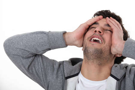 epiphany: A man having an epiphany  Stock Photo