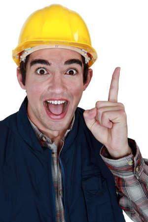 brilliant idea: Tradesman with a brilliant idea