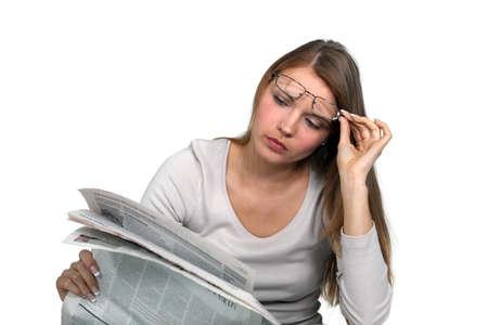 gazette: Man reading the newspaper