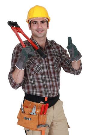 thumbsup: Handyman giving the thumbs-up