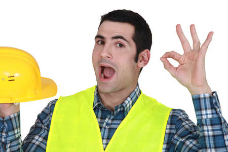 Builder giving the ok Stock Photo - 15833079
