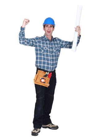successful laborer Stock Photo - 15832741
