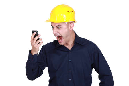 delirious: An architect yelling at his phone