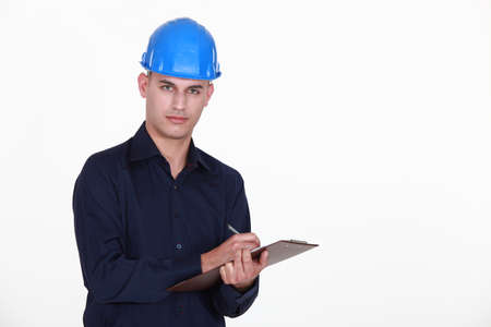 Engineer with a clipboard Stock Photo - 15832789