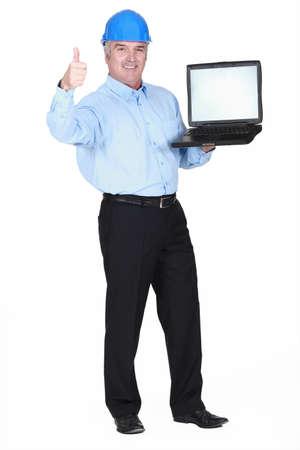 Engineer giving the thumb Stock Photo - 15852913