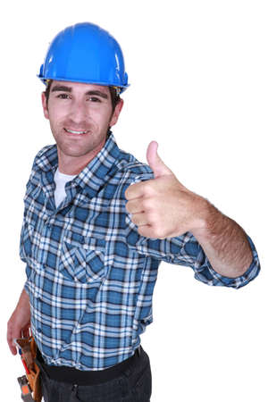 A foreman giving the thumb up Stock Photo - 15857274