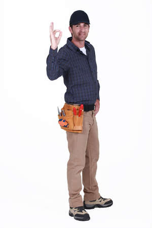 OK from a workman Stock Photo - 15853420
