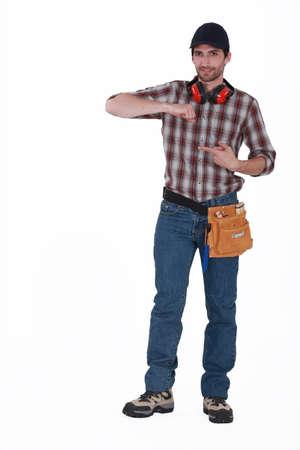 anti noise: tutto il corpo ritratto di tappo carpentiere bello indossare