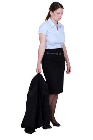 Dejected businesswoman photo