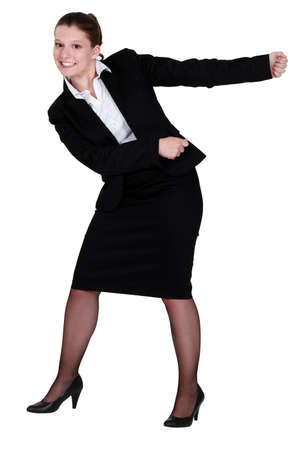 A businesswoman miming  Stock Photo - 15852647