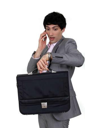 panicked: Panicked businessman