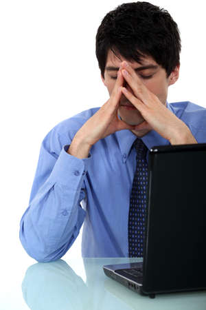 weary: Businessman has lost all of his work