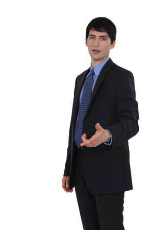 non verbal communication: A puzzled businessman