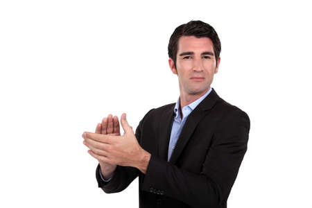 Man clapping Stock Photo - 15852752