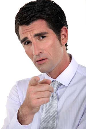A businessman blaming someone Stock Photo - 15859536