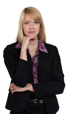 natural looking: Portrait of a business professional Stock Photo