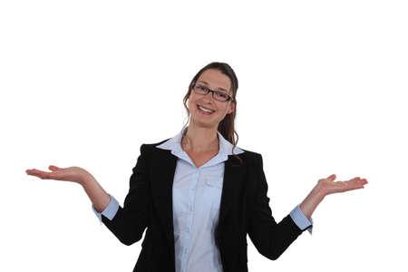Woman extending her hands Stock Photo - 15915375