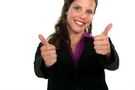 A businesswoman giving the thumbs up  photo