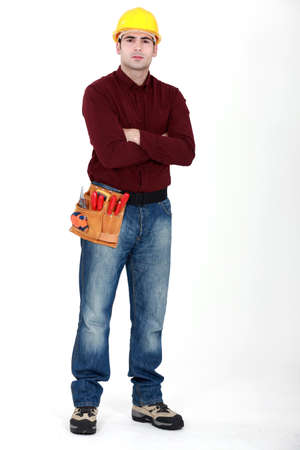 Tradesman with his arms crossed photo