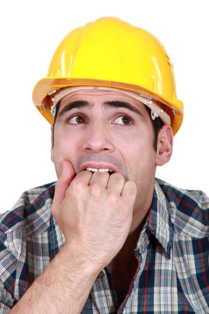 Frightened builder photo