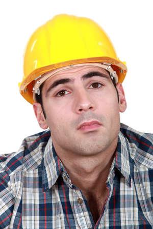 workingman: Constructor serio Foto de archivo