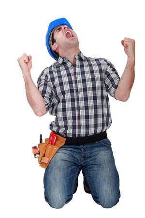 craftsman shouting Stock Photo - 15916136