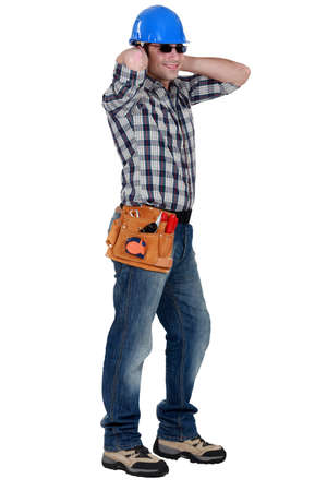 Tradesman wearing sunglasses Stock Photo - 15915775