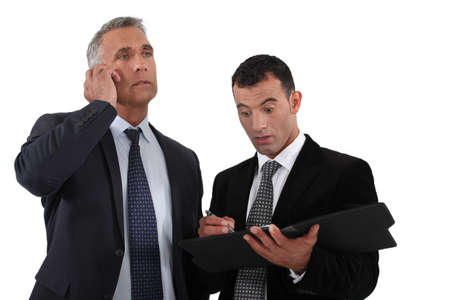 businesspartners: Shocked businesspartners Stock Photo