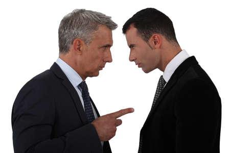 debating: Men arguing