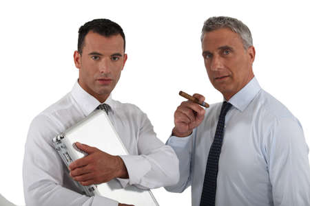 Two shady businessmen Stock Photo - 15915847