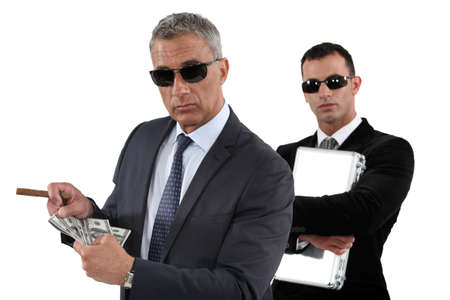 Men counting money photo