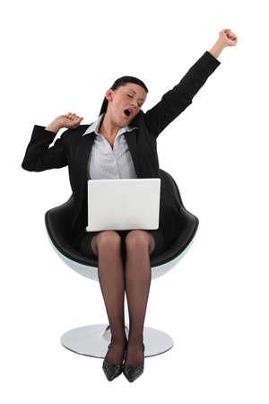 Businesswoman yawning Stock Photo - 15915526