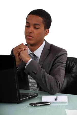 A neutral businessman Stock Photo - 15915835