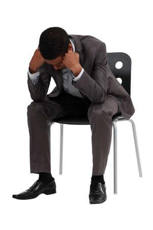 slump: businessman in depression
