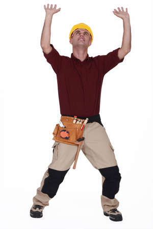 Builder under pressure Stock Photo - 15915550