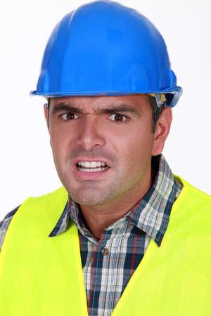 Terrified foreman photo