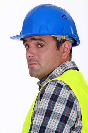 uneasiness: A nervous-looking tradesman