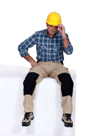 tradesman: Portrait of a charismatic tradesman