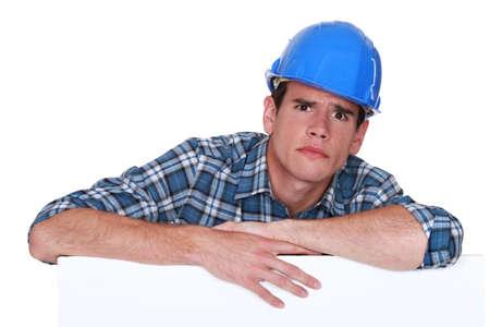 icily: A glaring tradesman