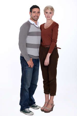 Full length portrait of a couple photo