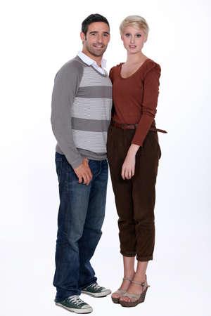 full length: Full length portrait of a couple Stock Photo