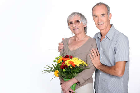 60 years: Wife with flowers