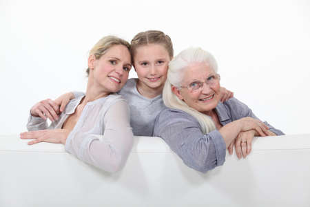 three generations: Three generations of women  Stock Photo