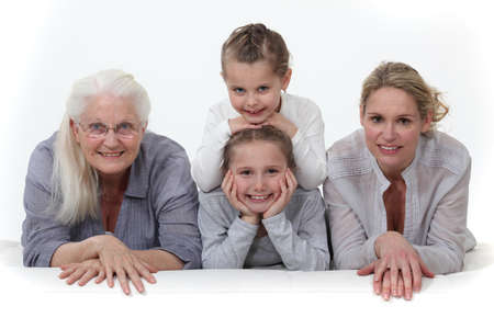 three generations of women: Three generations of women  Stock Photo