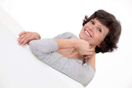 Middle aged woman posing Stock Photo - 15916069